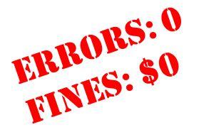 0 Errors 0 Fines